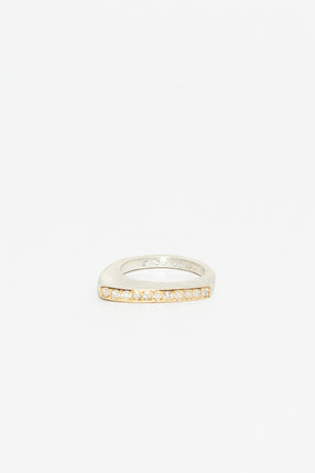 Maka Yellow Gold And Diamond Ring