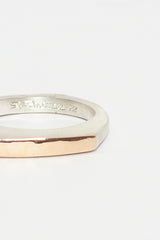 Maka Silver And Pink Gold Ring
