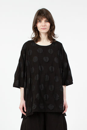 1740 Black Spot Loose Top