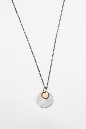 Venus And Jupiter Yellow Gold Necklace