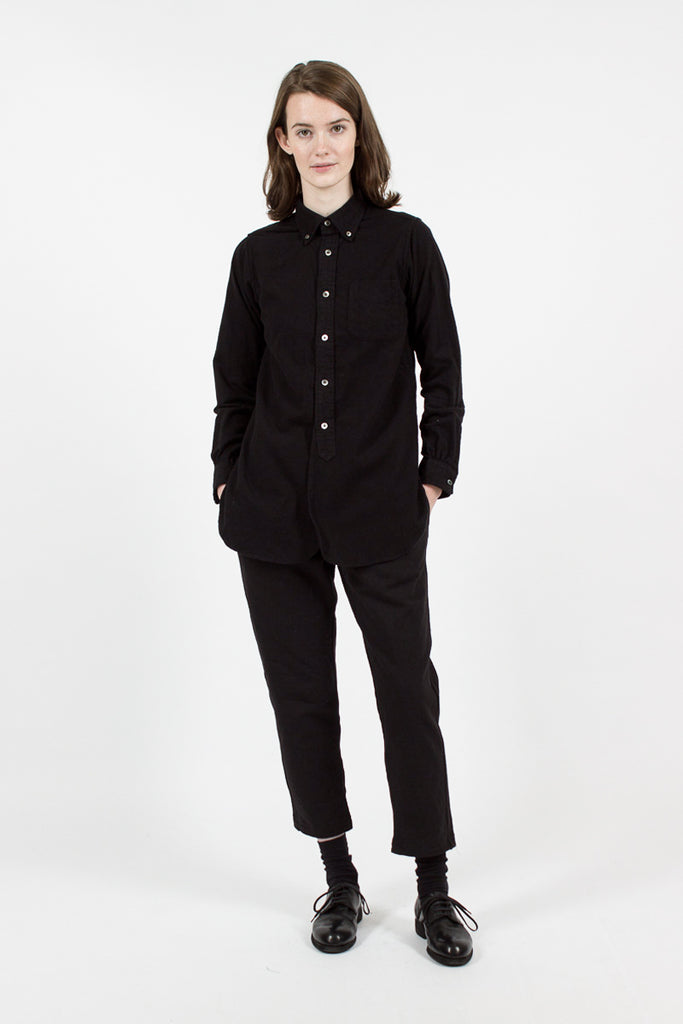 Black Flannel 19th Century BD Shirt
