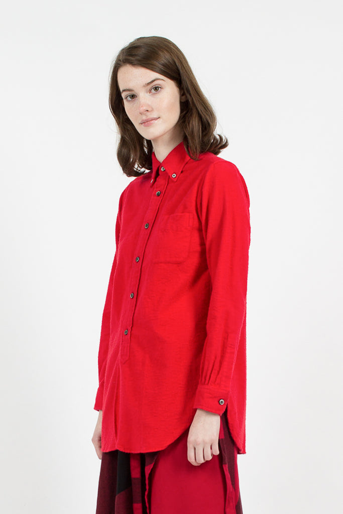Red Flannel 19th Century BD Shirt