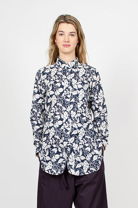 19 Century BD Navy/White Floral Printed Lawn Shirt