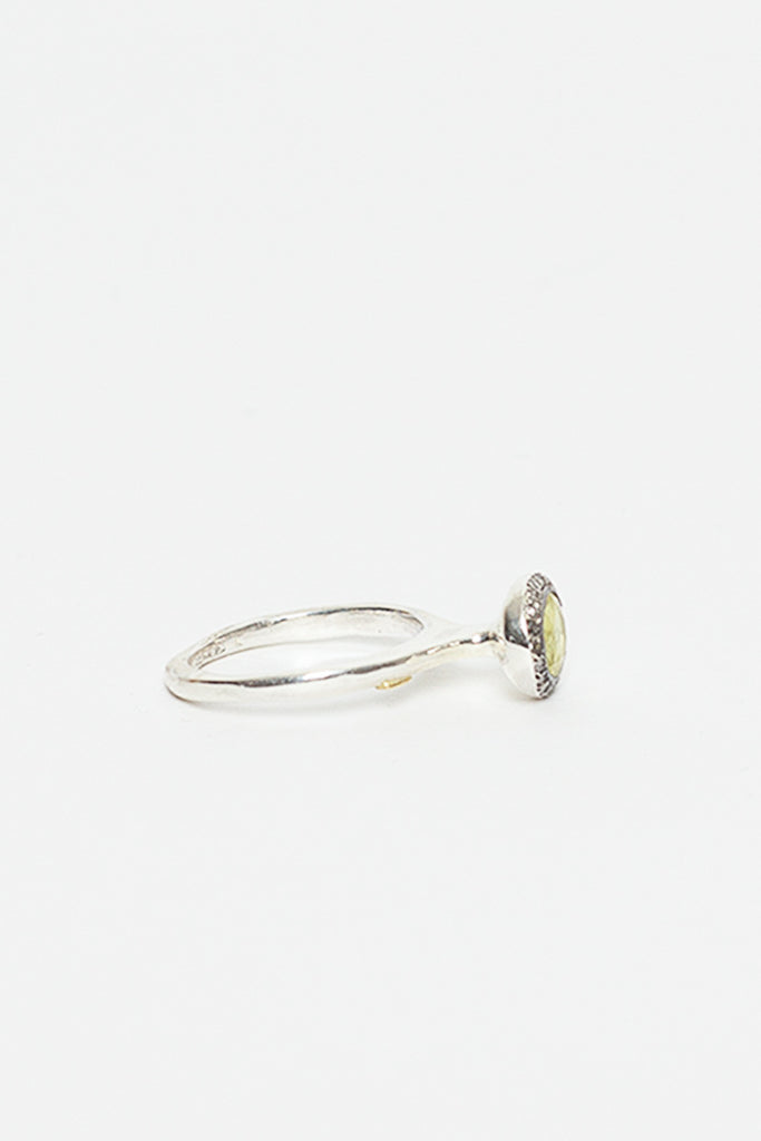 Belquis Lemon Quartz And Silver Ring