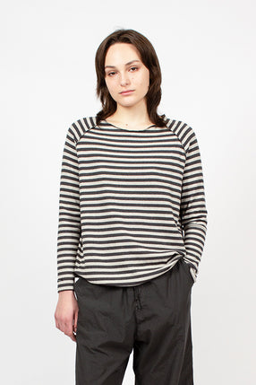 40_104 Raglan Riga Striped Sweatshirt