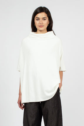 40_154 High Neck Pullover Cream