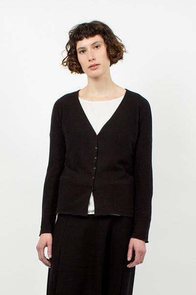 41_62 Short Black Cardigan