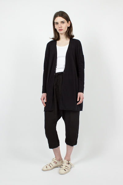41_58 Long Black Cardigan