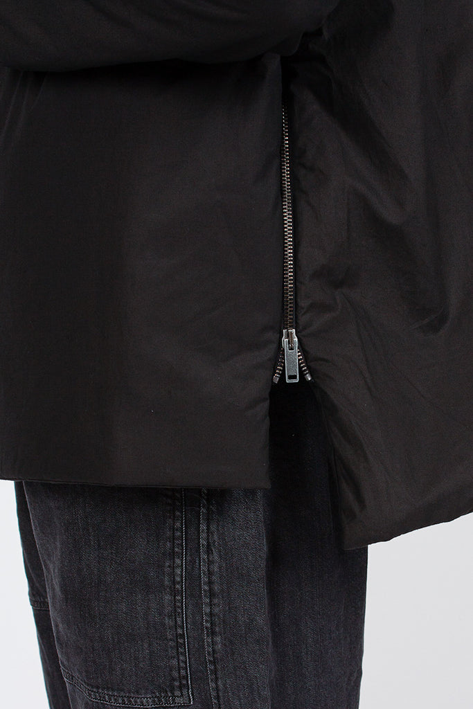 4341 Black Down Collar Jacket