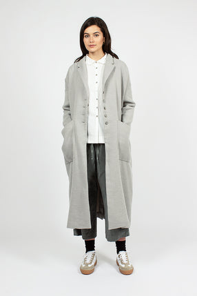 45_13 Long Wool Coat Grey