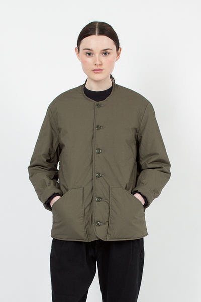 Greige Collarless Jacket