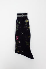 Botanical Navy Sock