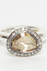 Olfat Rosecut Diamond And Topaz Ring