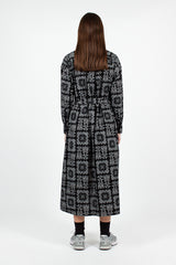 BD Shirt Dress Black Sheeting Bandana Print