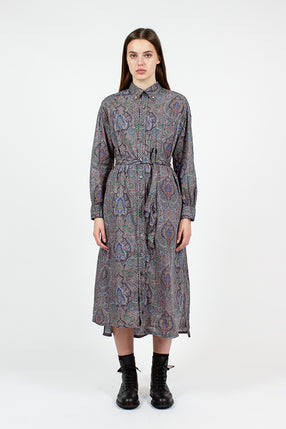 BD Grey Paisley Shirt Dress