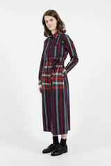 Leggiuno Plaid and Stripe BD Long Dress