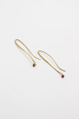 18kt Yellow Gold And Ruby Drop Earrings