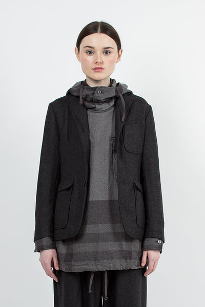 Grey Wool Baker Jacket