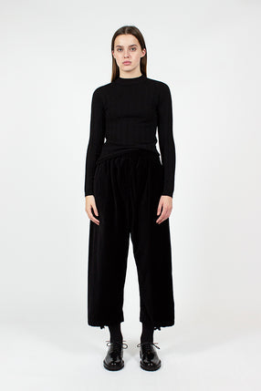 Black Velveteen Balloon Pant