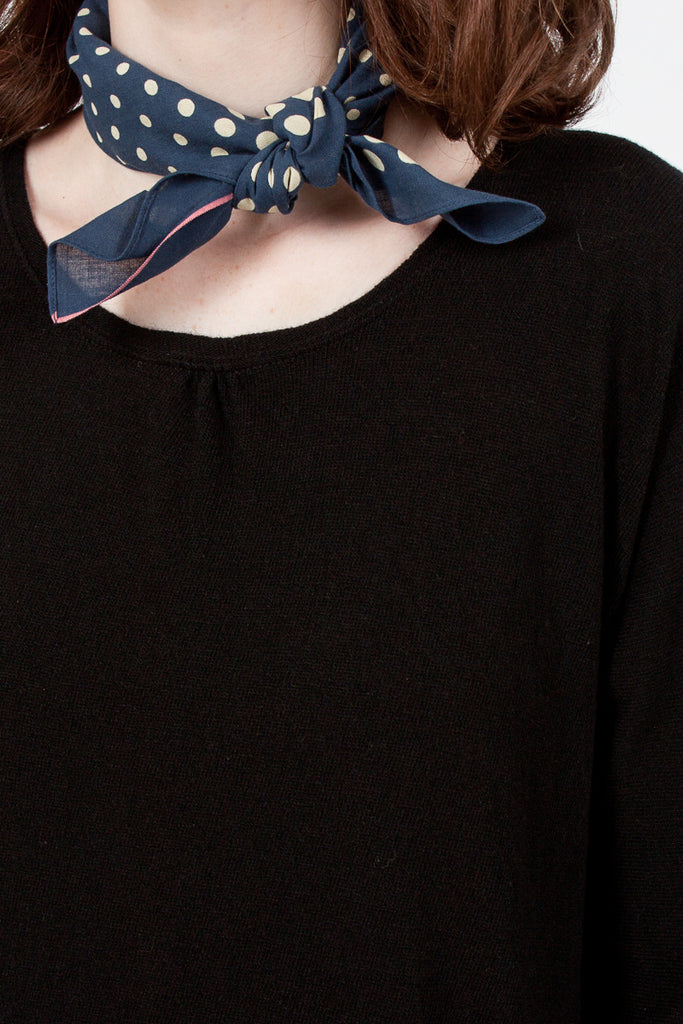 Navy Coco Swallowtail Fast Colour Selvedge Bandana