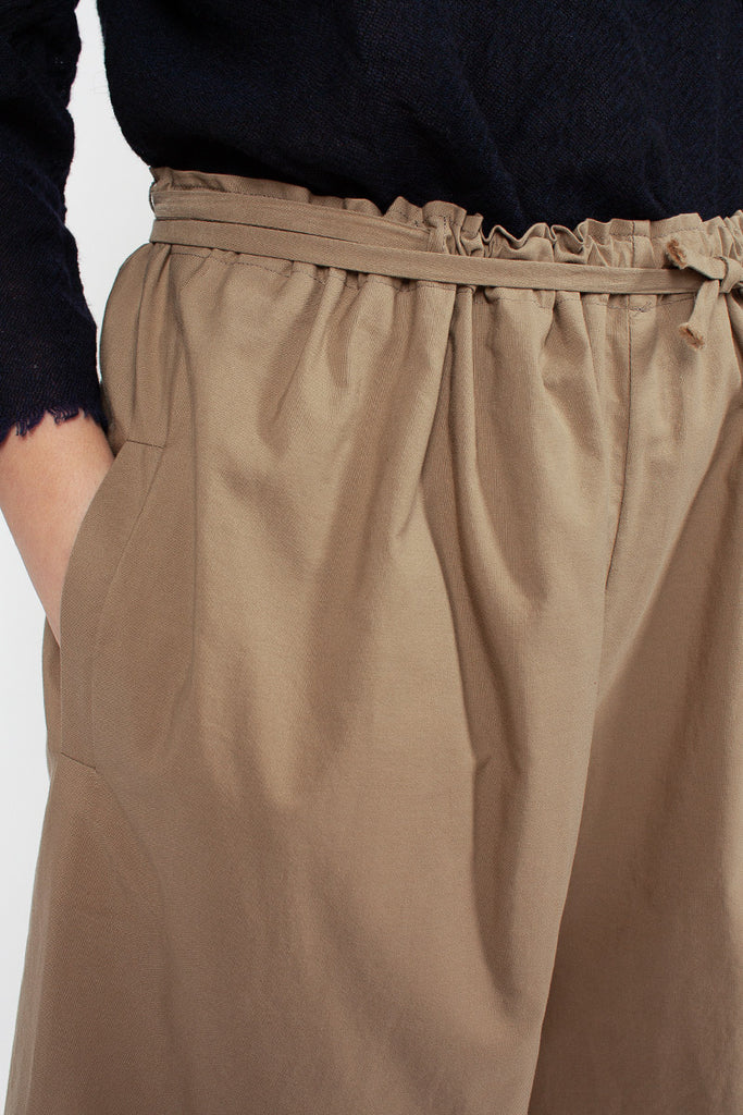 Wide Camel Trousers