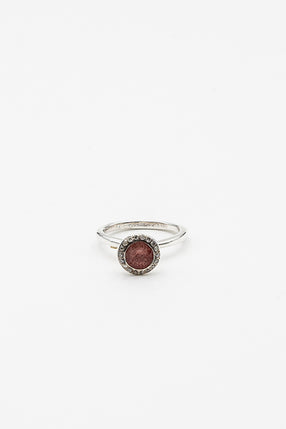 Belquis Strawberry Quartz And Diamond Ring