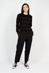 MHL Black/Ebony Button Shoulder Dry Wool Sweater