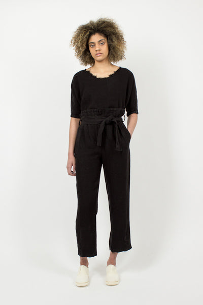 Black Burlap Pants