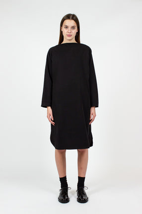 FD07 Folded Neck Midnight Dress