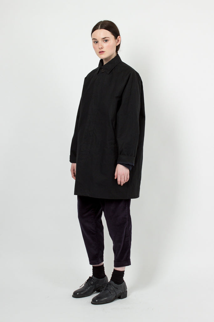 Waxed Black Coat