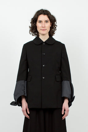 Bow Cuff Blazer Black