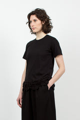 Ruffle T-shirt Black