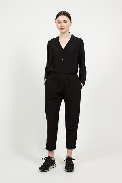 Black Easy Trouser