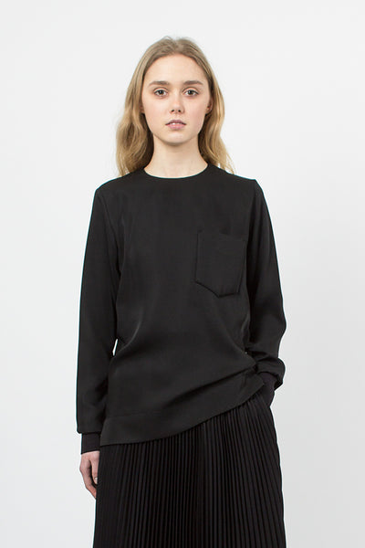 Black Collarless Shirt