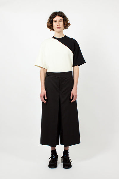 Black Structured Culotte