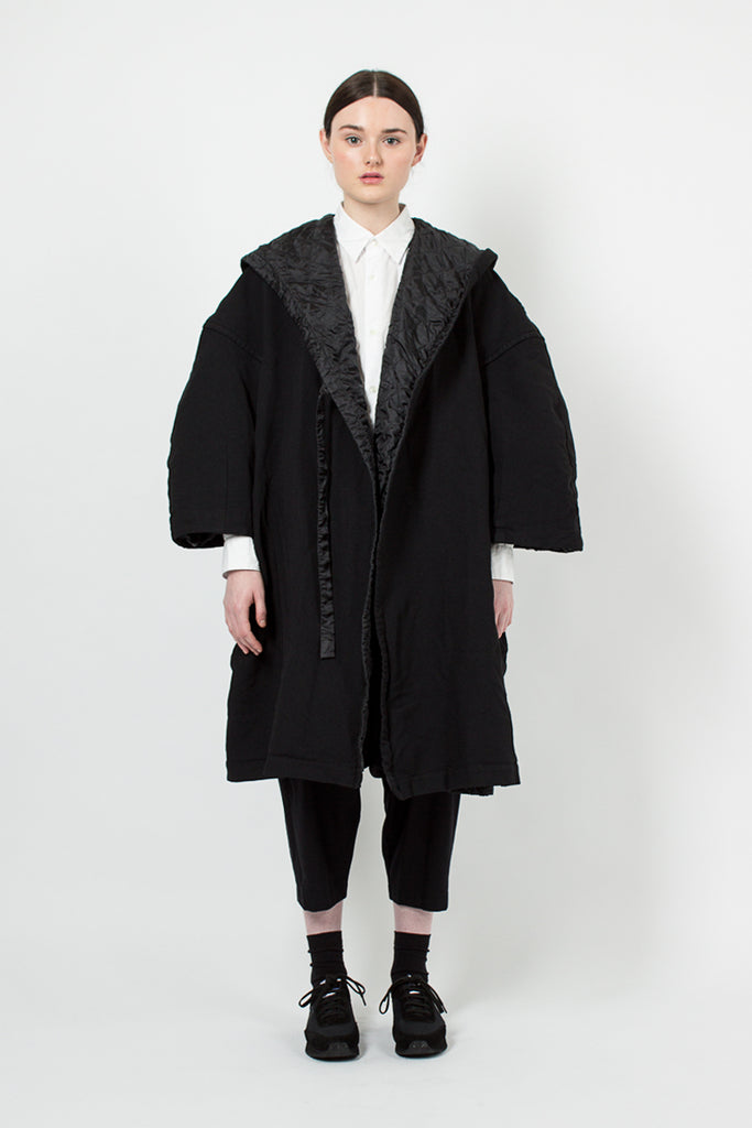 Black Cocoon Coat