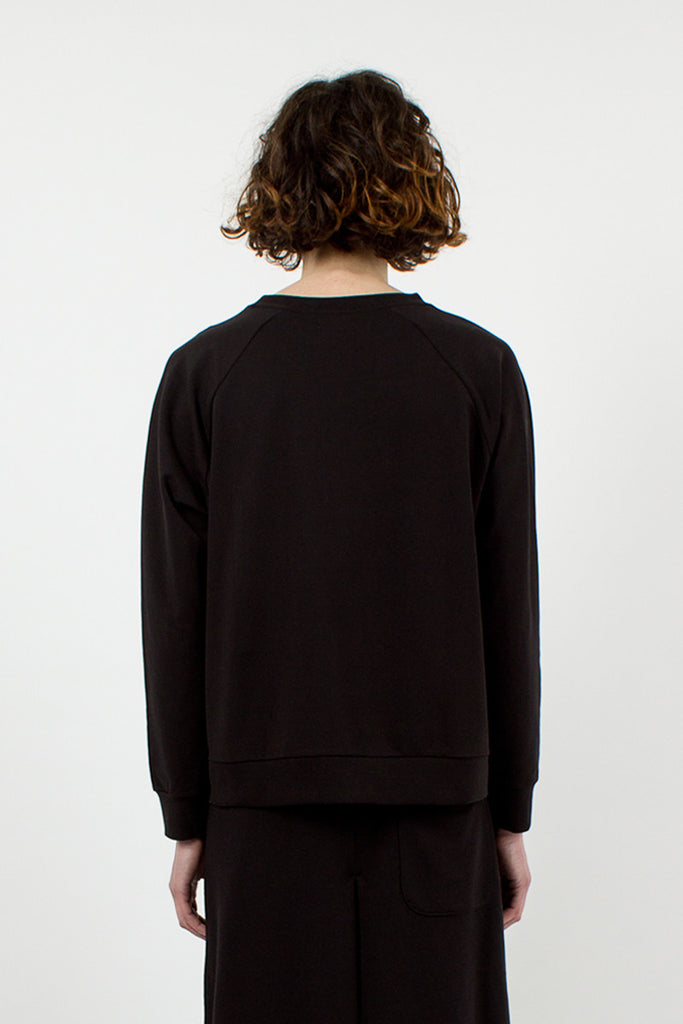 Jet Black Rose Sweatshirt