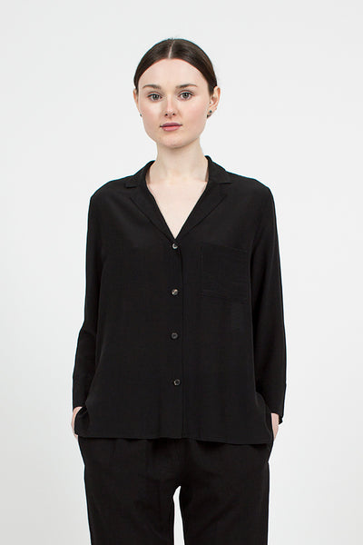 Black Silk Shirt