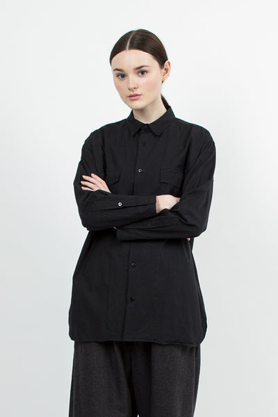 Black Military Long Shirt