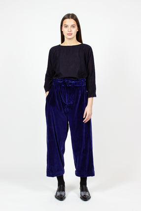Wide Velvet Worker Trousers