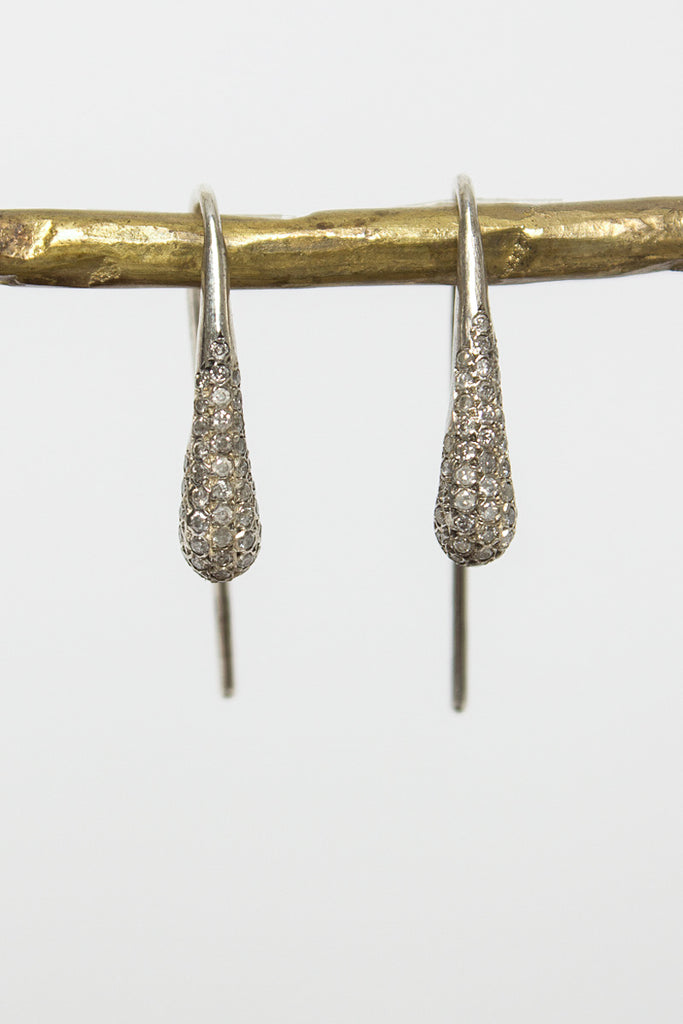 Tina Rosecut Diamond Drop Earrings