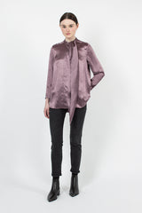 Bodil Dusty Purple Satin Top