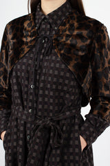 Bolero Dark Brown Polyester Dark Leopard