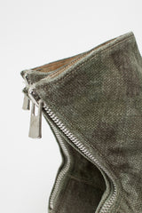 988 Camouflage Linen Zip Back Boot