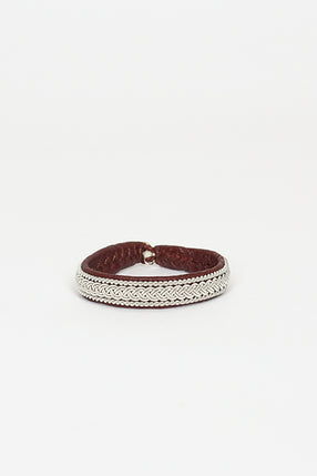 Ox Brown Hide B Bracelet