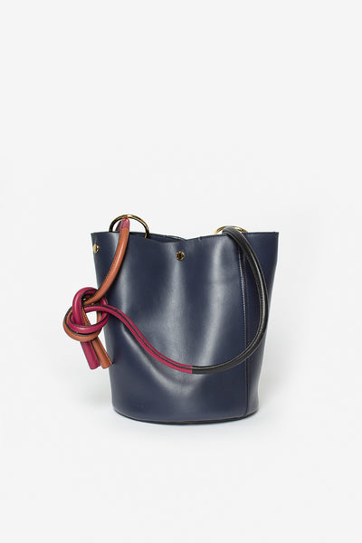 Bucket Bag Blue China/Black/Chestnut