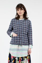Blue Tweed CN Jacket