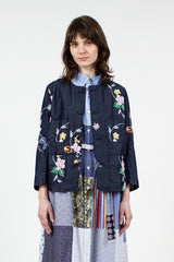 Denim Embroidered CN Jacket