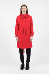 Red Flannel Cagoule Dress