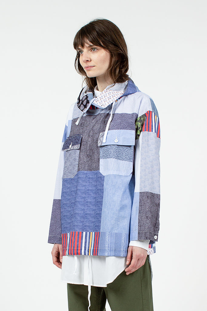 Multi Patchwork Cagoule Shirt